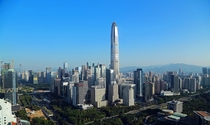 Shenzhen China - The PingAn Finance Center Reaches its Peak