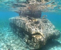Sherman Tank at Invasion Beach Saipan