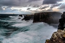 Shetland Storms I almost got myself blown off the cliff Eshaness