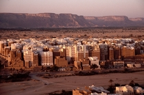 Shibam Yemen - Famous for its high-rise buildings made with mudbrick