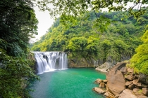 Shihfen Waterfall near New Taipei City Taiwan  by Bibi Paradise
