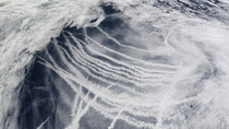Ship tracks in the Northern Pacific visible from space