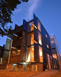 Shipping container apartments Travis Price Architects