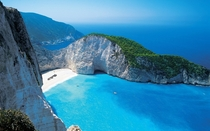 Shipreck Bay in Zakynthos island Greece