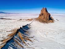 Shiprock from above