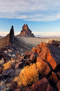 Shiprock from Black Dike Ridge  photo by Brad Mitchell