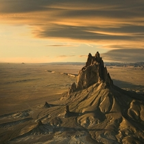 Shiprock the -foot eroded volcanic plume in New Mexico  by Mike Reyfman