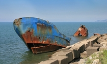 Shipwreck in Batumi Georgia