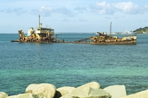 Shipwreck in the Marigot Bay - St Martin