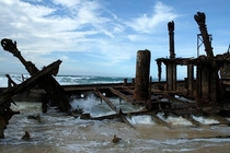 Shipwreck on Fraser Island in Australia