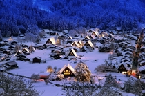 Shirakawa-g Village  Gifu prefecture Japan
