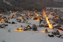 Shirakawago Village Japan in Winter