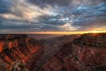 Shocking Sunset at the Grand Canyon