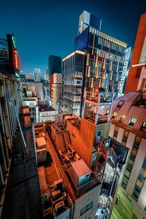 Shooting on the rooftop in GINZA TOKYO