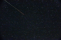 Shooting star captured by pure luck