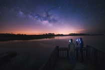 Shooting the Milky Way with Friends in Cedar Key Fl