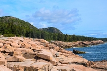 Shore of Acadia National Park  Taken by bkxposures
