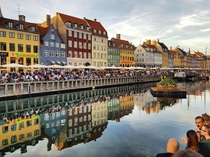 Shortly before lighting the Sankt Hans fire at Nyhavn Copenhagen Denmark