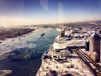 Shot of Detroit from The Renaissance Center  x-post via rwindowshots