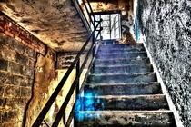 Shot this in an abandoned mental hospital in Maryland When I edited it to create an HDR image the blue orb became visible it isnt in any of the images I combined to create this image Immediately after editing this photo when I saved the next image it save