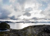Shot this while hiking Tyven near Hammerfest at the Norwegian polar circle Its absolutely stunning here  photo stitch up x