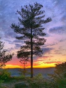 Showy sky at sunset on Manitou Mountain Ontario Canada  OC