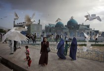 Shrine of Hazrat Ali or the Blue Mosque Mazar-i-Sharif Afghanistan