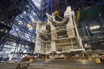 Shuttle-era work platform inside the Vehicle Assembly Building