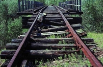 Siberia Unfinished railroad It was supposed to connect Igarka and Salekhard  GULAG prisoners from nearby labor camps died while building it within the years - After Stalins death the camps have been abandoned Now this road leads to nowhere