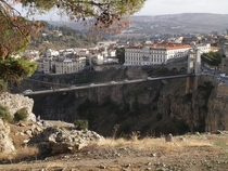 Sidi MCid bridge in Constantine Algeria