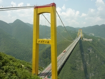 Sidu River Bridge Hubei Province China