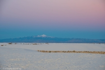 Sierra Blanca from White Sands during a sunset