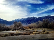 Sierra Nevada range near Bishop California