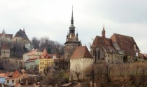 Sighisoara Transylvania and the medieval rooflines of the citadel