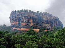 Sigirya a  monolith rock outcrop that once housed a palace on top in Sri Lanka