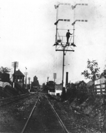 Signal tower Louisville and Nashville Railroad circa