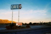 Signs in the Mojave Desert