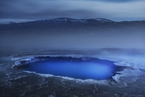 Silicate Rich Blue Pool in Hveravellir Iceland