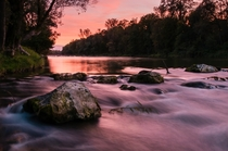 Silky Sunset at the Isar