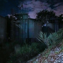 Silos of an abandoned Ocean Simulation Facility used for testing Sonar technology during the Cold War Free of Graffiti