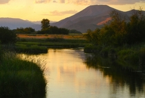Silver Creek at Dusk - Picabo Idaho