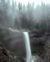 Silver Falls State Park Oregon was So BREATHTAKING I was SO thrilled and in awe seeing this scenery The clouds rolling in and all the mist was just stunningly beautiful  Also please support and inspire peoples wellbeing with your peaceful Photography at r