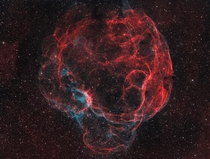 Simeis  aka The Spagetti Nebula looks every bit its nickname