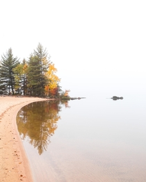 Simplicity on a foggy morning after a night of crazy thunderstorms Algonquin Park Canada  Social mikemarkov