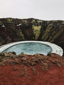 Since everyone is posting Iceland pictures  Kerid Volcanic crater Iceland