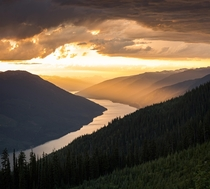 Since everyone liked my sunset shot so much yesterday heres another one with a different perspective Revelstoke