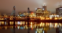 Since I love Portland Or too enjoy a rainy evening stroll with me on the East Bank Esplanade