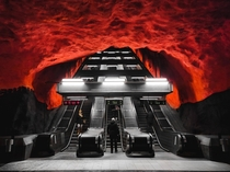 Since we are posting photos of Stockholms beautiful metro here is another