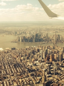 Since we saw the pan view here is JerseyManhattanBrooklyn from plane today