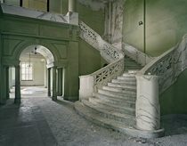 Since were doing staircasesagain The Mead building lobby and marble staircase Yankton State Hospital South Dakota photo by Christopher Payne